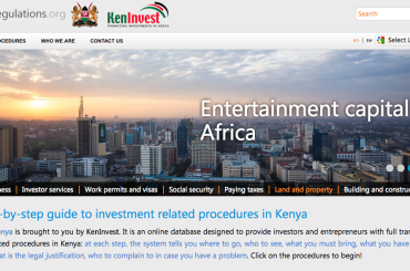 KenInvest: administrative transparency fosters investment