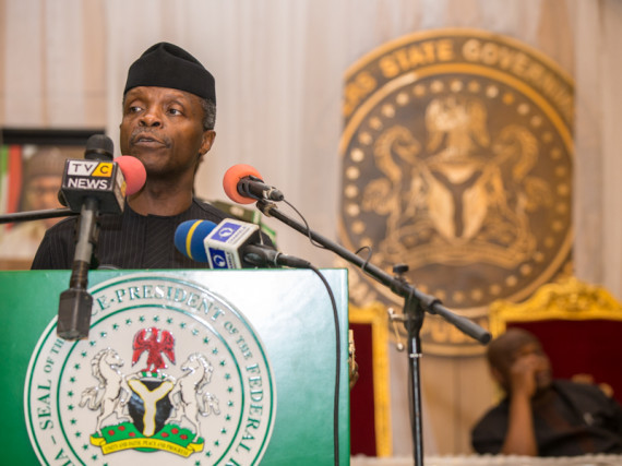 """Full transparency on business procedures"", says acting president of Nigeria"