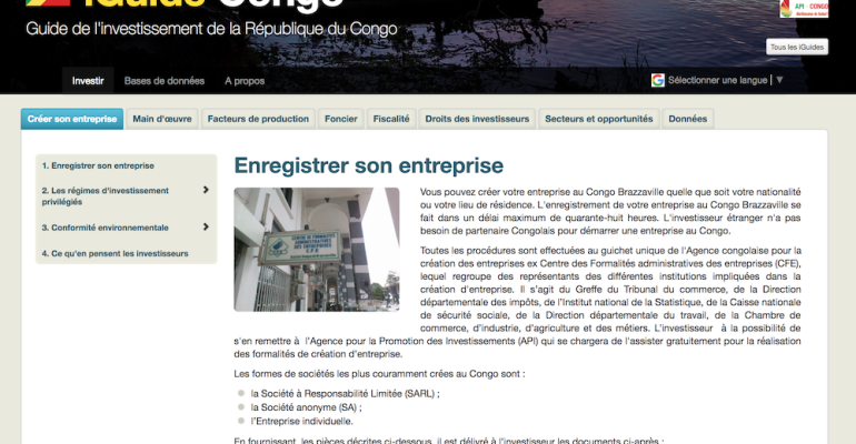 Congo launches online Investment Guide